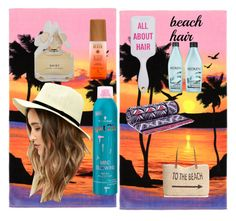"""beach hair"" by emilyperez573 ❤ liked on Polyvore featuring beauty, Redken, LULUS, Tory Burch, Style & Co., Marc by Marc Jacobs, Schwarzkopf and beachhair"