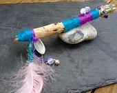 Aquarious driftwood gemstone wand