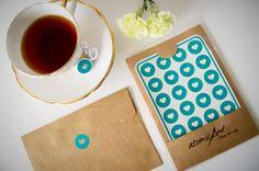 24 Stickers coeur Turquoise Teal - la main enveloppe phoques - invitations de mariage & faveurs - Hershey
