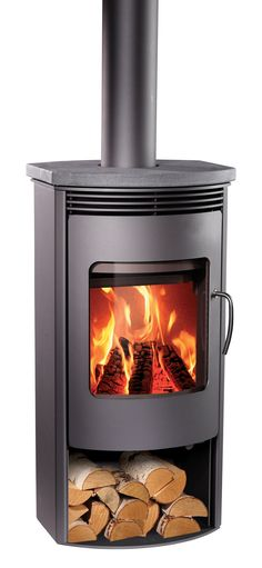 Rais Gabo Wood Stove - eclectic - fireplaces - by RAIS Eclectic Fireplaces, Soapstone Wood Stove, Wood Pellet Stoves, Wood Pellets, Wood Shed, Rocket Stoves, Fireplace Wall, Fireplace Ideas, All I Ever Wanted