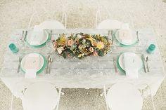 Eine punkig angehauchte Hochzeitsdeko in Mint und Rose   Friedatheres