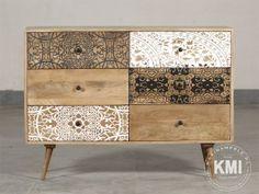 """drewniana komoda z szufladami """"Qumin"""" boho scandi"""