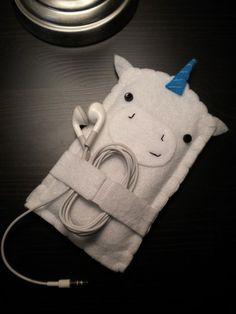 Unicorn iPhone / iPod Touch Cozy | cutehavok - Accessories on ArtFire