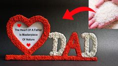 Homemade Fathers Day Gifts, Fathers Day Crafts, Frame Crafts, Crochet Earrings, The Creator, Gift Ideas, Easy, How To Make, Father's Day Gifts