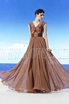 brown a line floor length girls pageant dresses cf 58013