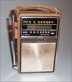 The leather case radio. An AM/FM radio that had a handle to carry, and a retractable antenna. I remember going to the beach, and my mom taking it. Radios, My Childhood Memories, Great Memories, 1970s Childhood, School Memories, Childhood Toys, Childhood Images, Cherished Memories, Photo Vintage