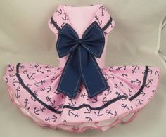 Hey, I found this really awesome Etsy listing at https://www.etsy.com/listing/261973575/dog-dressparis-pink-sailor-by-poshdog