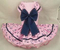 Dog dress. Pink sailor by Poshdog. Tutu skirt. by poshdog on Etsy