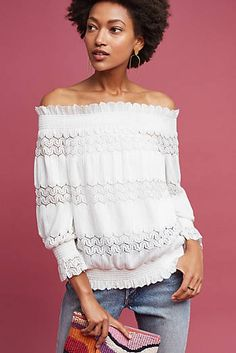 1907036b64a6 Riley Tasseled Off-The-Shoulder Top Dress For You