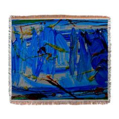 abstract 3 woven blanket