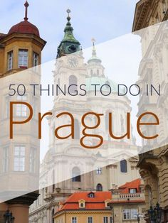 50-things-to-do-in-Prague Prague is worth visiting for more than just two days! This list is a proof:) #CzechPragueOut