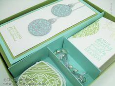 The Crafty Spark: Day 5 - Embellished Ornaments Series - Box of Cards, Gift Cards & Tags