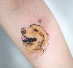 @tattoois_doy tatuagem cachorro desenho realista tattoo labrador