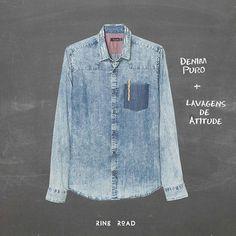 O jeans puro ganha um banho de atitude com as lavagens do out/inv da #basejeans #ringroad