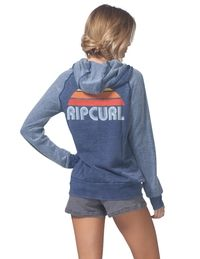 93b9b621605052 Cozy up in this super soft hoodie that features reversed fabric raglan  sleeves and a retro