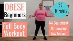 If you want to workout and don't know where to start, try my plus size positive, fat friendly, full body workout. It's a great beginner workout for obese peo. Beginner Workout At Home, Workout Plan For Beginners, Body Workout At Home, At Home Workouts, Body Workouts, Workouts Hiit, Thigh Workouts, Beginner Workouts, Overweight Workout