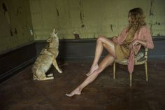 A Joseph Beuys moment with Erin Wasson for Australian label Scanlan