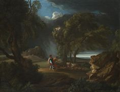 PIETER MULIER II o THE YOUNGER called IL CAVALIER TEMPESTA ( attribuited). LANDSCAPE WITH WAYFARERS SURPRISED BY THE STORM. oil on canvas. 76 × 96,5 cm. Private Collection.