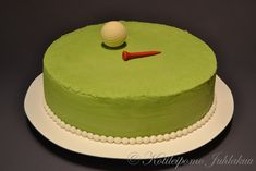 Simple and manly elegant golf cake 60th Birthday, Birthday Cakes, Happy Birthday, Cakes For Men, Golf, Cake Decorating, Baking, Simple, Easy