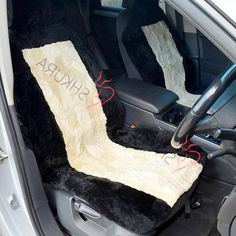 For NISSAN PATROL Luxury Faux SHEEPSKIN FUR Car Seat Covers Front Pair