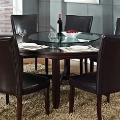 Steve Silver Hartford 72 Inch Round Dining Table in Dark Cherry by Steve Silver Furniture, http://www.amazon.com/dp/B00C65U8F4/ref=cm_sw_r_pi_dp_i7hJrb0J5WDSN