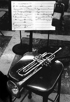 Chet Baker's trumpet, Los Angeles, 1953 | Bob Willoughby