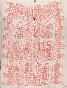Ivory Russian blouse by Vilshenko, looks like a thob!
