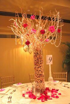 corks in tall vase