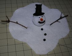 melted snowman | Melted snowman craft project for kids to make, kids winter arts and ...