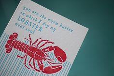 Smock's Lobster Love card