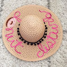 Glitter and Juls: DIY Donut Sequin Beach Hat