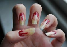 Halloween Bloody Nails #Halloween #nails #Halloweenideas