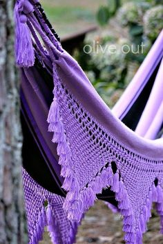 Purple boho hammock