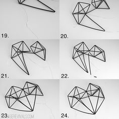 Vintage Revivals | Geometric Himmeli Heart Tutorial