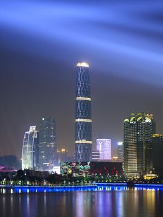 Guangzhou IFC in Guangzhou,China, by Wilkinson Eyre ( completed in 2010, 438.6 meter/1439 ft, 103 story)