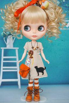 **Saranのブラ子**カスタムブライス No 23_画像3 Ooak Dolls, Blythe Dolls, Girl Dolls, Baby Dolls, Pretty Dolls, Cute Dolls, Beautiful Dolls, Little Doll, Little Girls