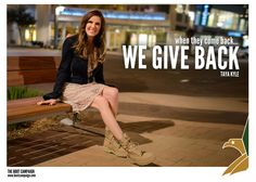This week we are proud and honored to feature Boot Campaign Ambassador, Taya Kyle.   In the two years since Chris Kyle was killed, Taya's life has become increasingly more complex, but her resilience both proves the underlying strength of military spouses and also gives hope to those walking that same uphill path. Read more: http://www.bootcampaign.com/when-one-person-serves-the-whole-family-unit-serves/  #ChrisKyleDay #BootsOn #AmericanSniper