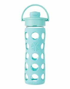Amazon.com: Lifefactory 16-Ounce Glass Beverage Bottle with Flip Top Cap, Grass Green: Kitchen & Dining