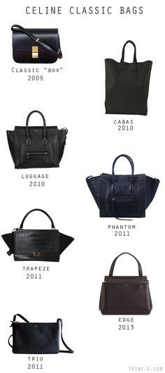 Trini blog| Celine classic bags