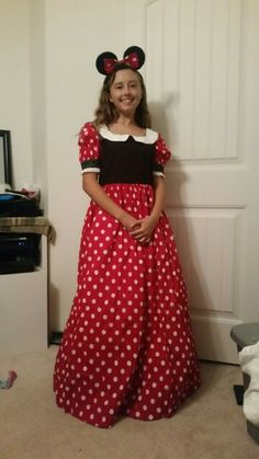 My oldest granddaughter wanted to surprise her little sister for her 3 year birthday by dressing up as Munnie Mouse.  I thought it turned out pretty well.