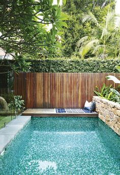 37 Amazing Small Pool Design Ideas On a Budget. Does not imply you can not delight at a pool of your life, just because you have got a backyard. Therefore, if you are eager to create swimming pool on . Small Swimming Pools, Small Pools, Swimming Pools Backyard, Swimming Pool Designs, Indoor Swimming, Inground Pool Designs, Swimming Pool Tiles, Small Backyard Design, Small Backyard Pools