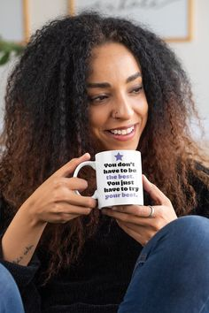 Our inspirational coffee mugs are designed with quotes to put you in a positive mindset so you're empowered to be the best version of you today. Shop now to find the perfect one for you. Cat Coffee Mug, White Coffee Mugs, Funny Coffee Mugs, Coffee Humor, Coffee Lovers, Funny Mugs, Coffee Cup, Mug Harry Potter, Girl Tribe