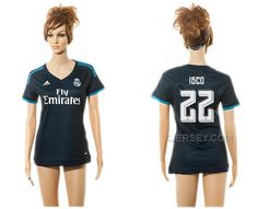 http://www.xjersey.com/201516-real-madrid-22-isco-third-away-women-jersey.html 2015-16 REAL MADRID 22 ISCO THIRD AWAY WOMEN JERSEY Only $35.00 , Free Shipping!