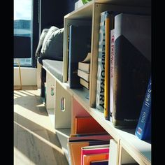 BrickBox: Strong, modular and can have many uses: storage & display of toys, books, your record collection. or even used as a bench.