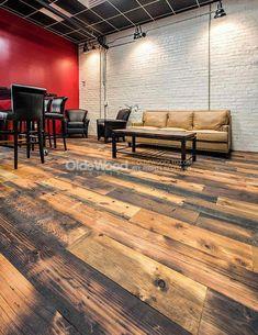 New Distressed Wood Floors Wide Plank Rustic Ideas Distressed Wood Floors, Reclaimed Wood Floors, Old Wood Floors, Wood Laminate Flooring, Wide Plank Flooring, Pine Floors, Diy Flooring, Flooring Ideas, Rustic Hardwood Floors