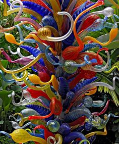 DALE CHIHULY EXHIBIITON at the Fairchild Tropical Botanic Garden Coral Gables, FL - Pixdaus....neat