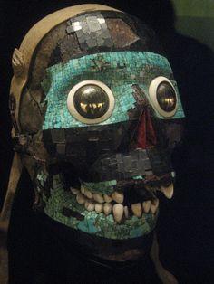 Mosaic mask of Tezcatlipoca by Nolan Willis, via Flickr: Aztec mosaic mask of Tezcatlipoca