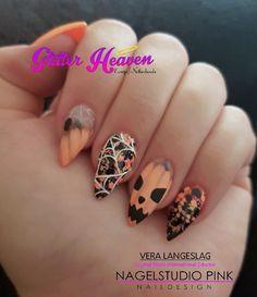 My Halloween Pumpkin Nails! #glitterheaven #veralangeslag #nagelstudiopink #nails #arnhem #sparkle #nailart #glitter #glitterheaveneurope