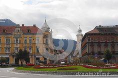 Overlooking the Muresenilor street, Brasov, Transylvania
