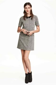 Vestido estampado de jacquard   H&M